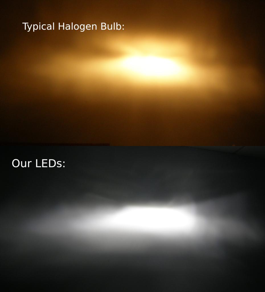 LED and Halogen comparison for restomods