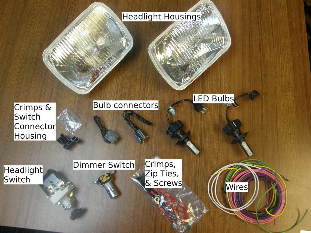 Classic Car Headlights kit parts