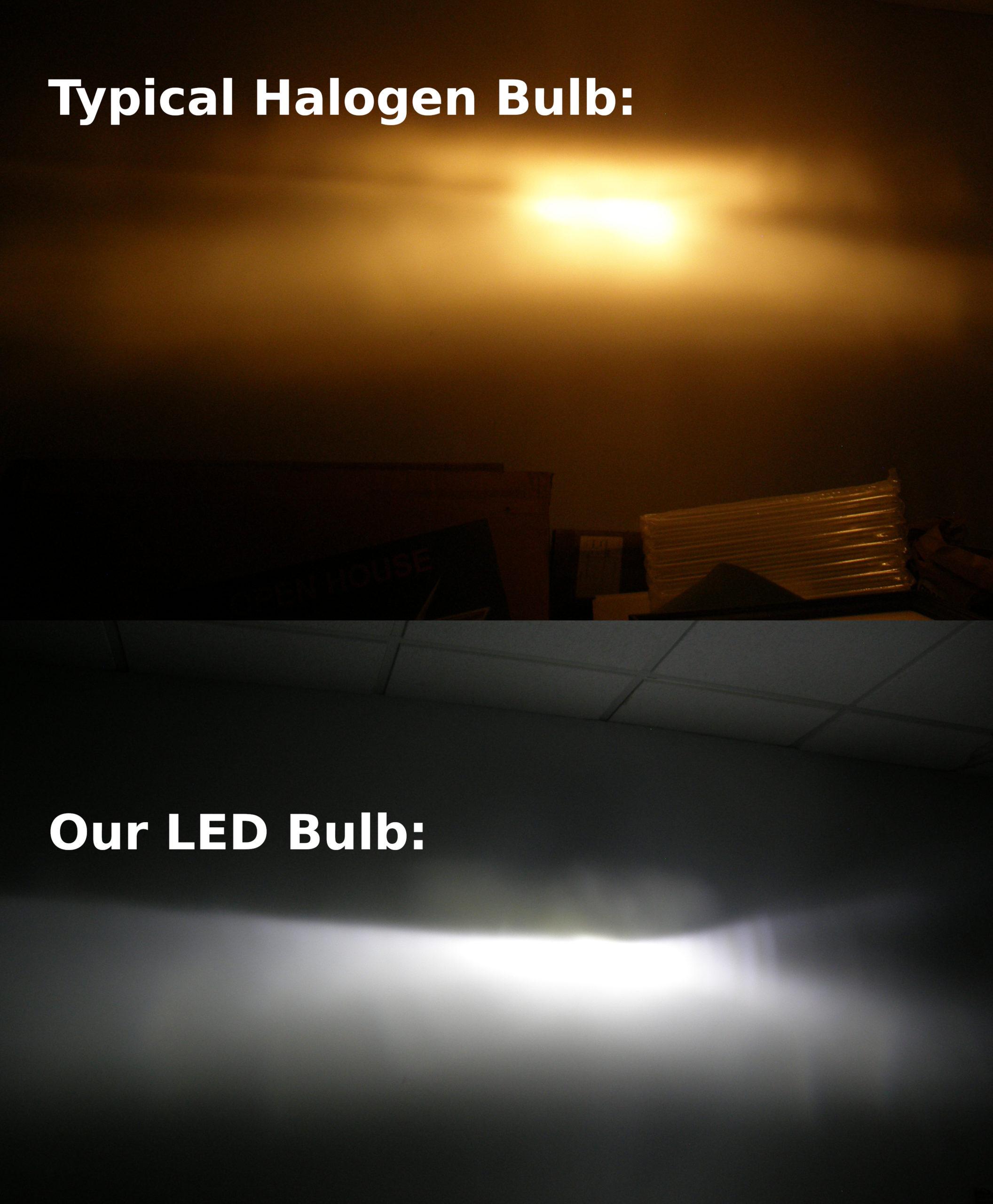 Comparison of classic car headlights